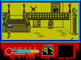 The Rocky Horror Show ZX Spectrum Onto the next screen - one piece, and the access stairs to 2 more