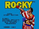 Rocky SEGA Master System Title Screen