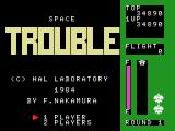 Space Trouble MSX Title screen