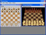 Virtual Chess Windows Default window with the 2D board side by side with the 3D virtual board