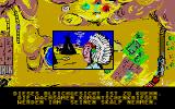 Lucky Luke Atari ST Visiting Comanche's Leader in the final location (German Version)