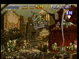 Metal Slug: Super Vehicle - 001 PlayStation Having arrived to another soldier-protected section, Marco looks and thinks where to shoot first...