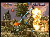 Metal Slug: Super Vehicle - 001 PlayStation While Metal Slug is relatively safe against a round of turret shots, a counterattack is in process!