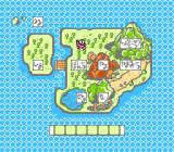 Asmik-kun Land NES The world map. Walk on it to access the next stage