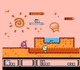 Asmik-kun Land NES A strange level with lots of pencils