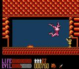 Wizards & Warriors III: Kuros - Visions of Power NES Taking on a monster while assuming the role of thief