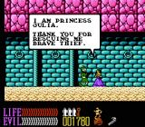 Wizards & Warriors III: Kuros - Visions of Power NES Rescuing a princess