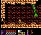 Wizards & Warriors III: Kuros - Visions of Power NES Fighting a worm boss