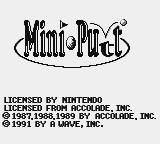 Mini-Putt Game Boy Title screen