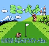 Mini-Putt NES Title screen