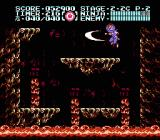 Ninja Gaiden III: The Ancient Ship of Doom NES In this section of 2-2, the cavern is filling up with lava and you need to keep on top of it