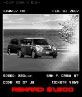 Asphalt: Urban GT 2 N-Gage Drive too fast into a speedcam and the cops will develop interest in you