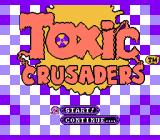 Toxic Crusaders NES Title screen