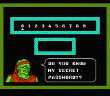 Toxic Crusaders NES Yes, I do know the password!