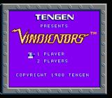 Vindicators NES Title screen