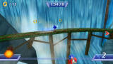 Sonic Rivals PSP Running along a waterfall.