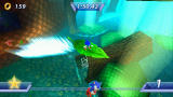 Sonic Rivals PSP On certain maps you can use different devices to get some time advantage.