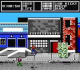Skate or Die 2: The Search for Double Trouble NES The arrow means you can enter this building.