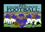 GFL Championship Football Commodore 64 Loading screen
