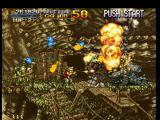 Metal Slug: Super Vehicle - 001 PlayStation While some soldiers are spending lots of grenades in Marco Rossi, he spends lots of ammo in a tank!