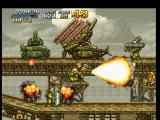 Metal Slug: Super Vehicle - 001 PlayStation If Marco Rossi doesn't hurry with his Shotgun counterattack, he'll be hit by lots of steel tiles...