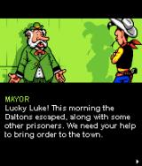 Lucky Luke: Outlaws J2ME Introduction sequence: the mayor asks for your help.