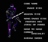 "G.I. Joe: A Real American Hero NES More character information: ""Jitsu of power"" is probably supposed to be ""Power of jitsu"""