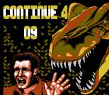 Jurassic Park NES Continue screen