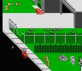 Paperboy 2 NES I'm trying to throw the newspaper while balancing on the bike. Not an easy task