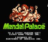 Mendel Palace NES Title screen
