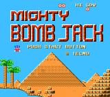 Mighty Bombjack NES Title screen