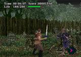 Virtual Hydlide SEGA Saturn Battling zombies in the spooky cemetery.