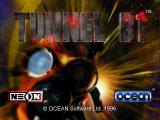 "Tunnel B1 SEGA Saturn Title screen. The ""Press Start button"" text flashes so rapidly it is almost impossible to capture in a screenshot."