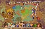 Golden Axe: The Duel SEGA Saturn Character selection.