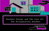 Snooper Troops: Case #2 - The Case of the Disappearing Dolphin DOS CGA title screen