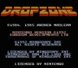 Dropzone NES Title screen