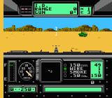 Garry Kitchen's Battletank NES Shooting at an enemy tank.