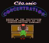 Classic Concentration NES Title screen