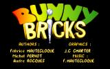 Bunny Bricks DOS Title screen