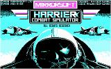 Harrier Combat Simulator PC Booter Title screen (CGA)