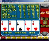 Beat the House Windows 3.x Close-up on a video poker game