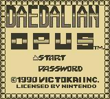 Daedalian Opus Game Boy Title Screen