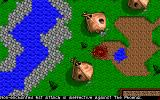 Challenge of the Five Realms DOS The map display shifts to full-screen during combat.