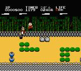 Ganbare Goemon! Karakuri Dōchū NES Battle in a forest