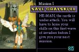 Masters of the Universe: He-Man - Power of Grayskull Game Boy Advance Mission briefing.