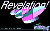 Revelation DOS Title screen (CGA)