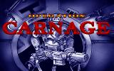 Operation Carnage DOS Title screen
