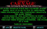 Operation Carnage DOS Game instructions