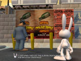Sam & Max: Episode 3 - The Mole, the Mob, and the Meatball Windows Watching a poster for the national spin the bottle championship.