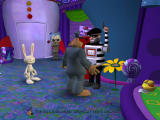 Sam & Max Episode 3: The Mole, the Mob, and the Meatball Windows Playing a game on the one-armed bandit.